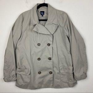 Gap Tan 100% Cotton Pea Coat